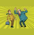 boss scolds businessman vector image