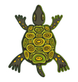 funky turtle vector image