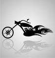 Tribal Motorcycle vector image