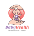 Logo baby health vector image vector image