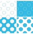 EU emblem patterns set vector image vector image