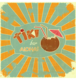 Retro Design Tiki Bar Menu vector image
