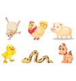 cartoon animals vector image vector image