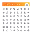 Basketball Line Icons Set vector image