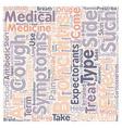 Bronchitis medicine text background wordcloud vector image