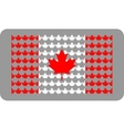 canada flag from maple leafs vector image