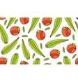 Colorful seamless pattern with vegetables vector image