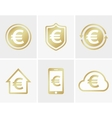 euro logo Euro icon Euro cloud icon Euro vector image