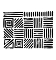 Hand Drawn Patterns Abstract geometric brush vector image