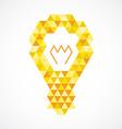Light bulb creative idea concept Orange and yellow vector image