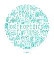 orthopedic and trauma rehabilitation concept vector image