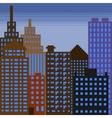 pixel building 3 vector image