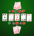 Poker gambling chips casino elements vector image
