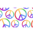 seamless texture with rainbow symbol of peace and vector image