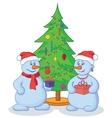 Snowballs and Christmas tree vector image