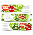 Spring horizontal banners vector image