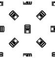 square post box pattern seamless black vector image