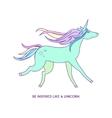 Unicorn icon character 03 vector image