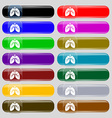 Lungs icon sign Set from fourteen multi-colored vector image