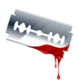 blade with blood vector image