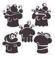cakes silhouettes vector image vector image