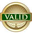 valid gold icon vector image vector image