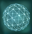 Abstract geometric sphere composition with glowing vector image