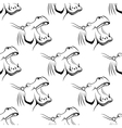 Seamless pattern of a hippo with an open mouth vector image vector image