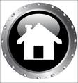 Black Button Icons - Home Icon on a web button vector image
