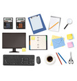 big office supplies set4 vector image
