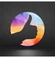 OK hand symbol OK sign icon vector image vector image