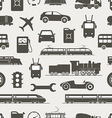 Vintage and modern vehicle silhouettes seamless vector image