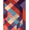 Abstract Background retro mosaic vector image