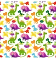 baby dinosaurs pattern vector image