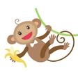 Cute monkey with banana vector image