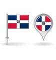 Dominican Republic pin icon and map pointer flag vector image