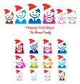 Family Christmas card vector image