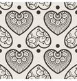 Fun seamless love heart background vector image