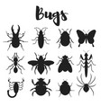 monochrome set of various bugs vector image
