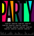 nice and beautiful abstract or night party flyers vector image