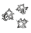 stars tattoos vector image