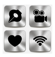 Web icons on metallic buttons set vol 5 vector image
