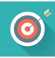 Aiming concept the arrow in bulls eye vector image