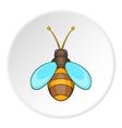 Bee icon cartoon style vector image