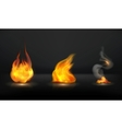 Flames set vector image vector image