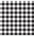 Black white checkerboard check textile seamless vector image