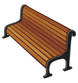 park bench vector image