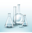 different chemical flasks vector image