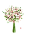 Wedding bouquet floral for your design vector image