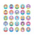 set of flat design avatars vector image